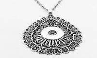 Trendy Silver Plated Classical Snap Button Pendant Necklace - sparklingselections