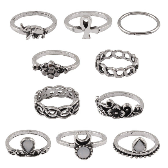 New Fashion European and American Retro Ring Sets