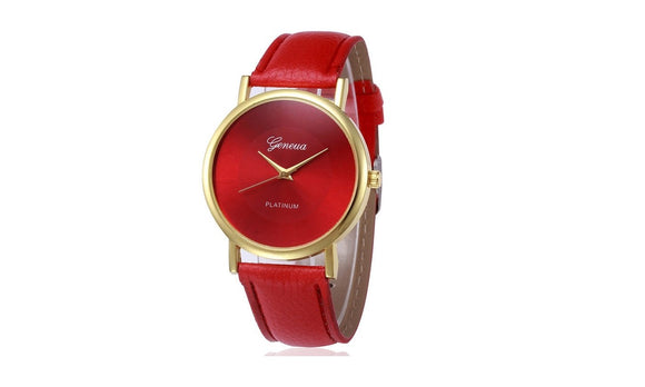 Women Watch Golden Leather Wrist Watches Quartz