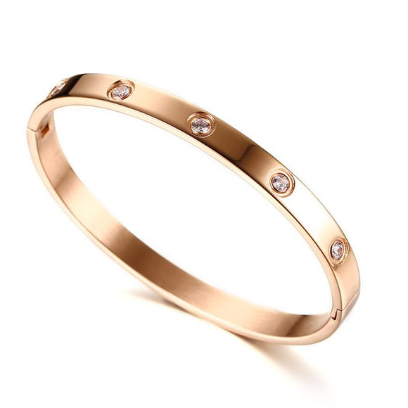 New Women Gold Plated With Crystal Cuff Bracelets