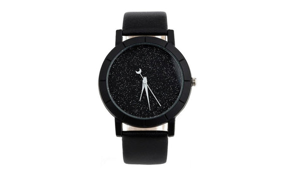 Women's Solid Star  Leather Strap Quartz Watch