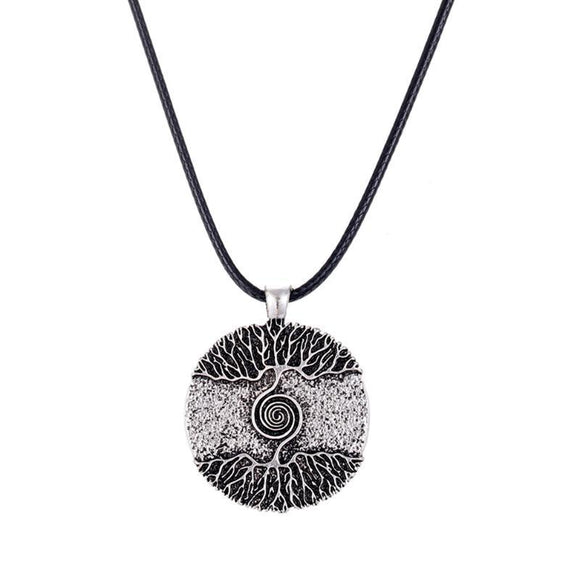 New Stylish Tree of Life Cabochon Bronze Glass Pendant Necklace
