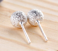 New Stylish Snowball Frosted Ball Earrings