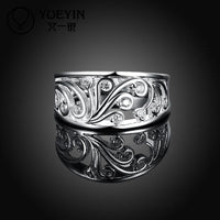 Silver Plated Flower Shape Ring (7,8) - sparklingselections