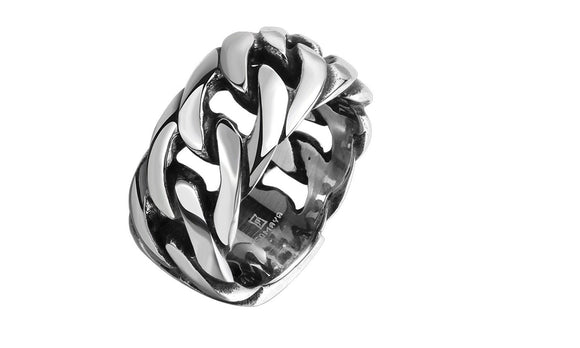 New Stainless Steel with Rope Punk Ring For Men