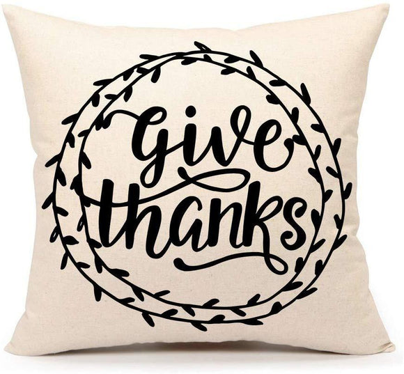 Beautiful Thanksgiving Day Home Decor Fall Throw Pillow Case Party Accessory