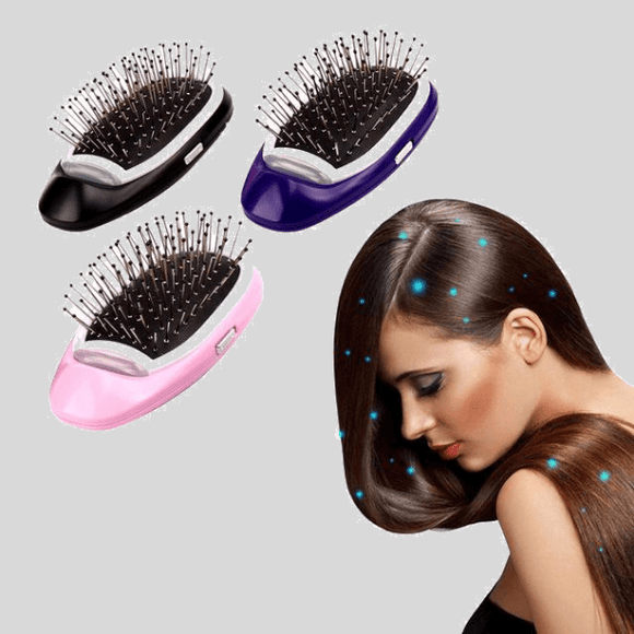 Portable Electric Ionic Hairbrush- Easy & Instant Result