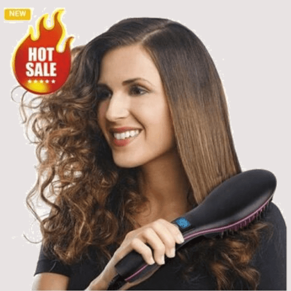 Simply Straight Hair Straightening Electric Irons Brush