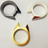 Cat Ear Trendy Self Defense Ring - Best Survival Outdoor Unisex Ring