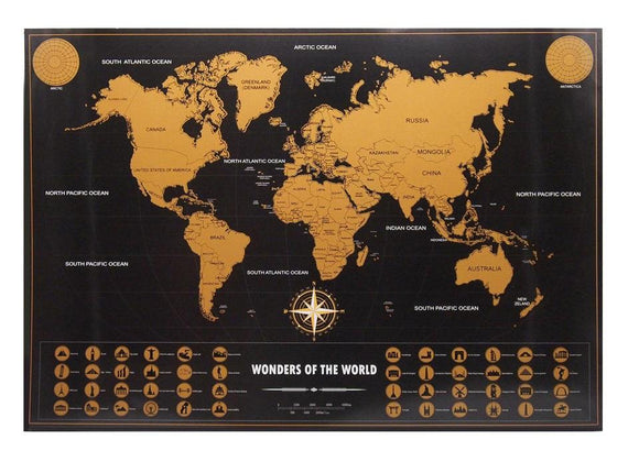 Personalized Vintage Travel World Map Poster