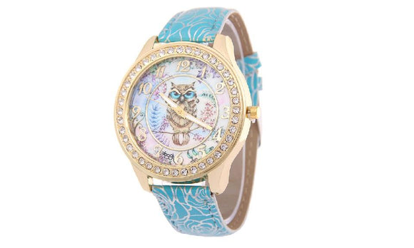 Elegant Women Watches Fashion Women Leather Diamond Dress Watch