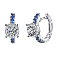 White Cubic Zirconia Stud Earrings For Women - sparklingselections