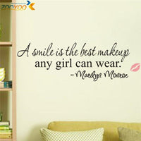 A Smile is The Best Makeup Vinyl Removable Wall Decal - sparklingselections