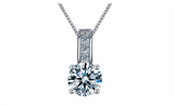 Cubic Zirconia Silver Plated Women collier collar Statement Necklace