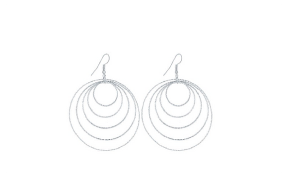 Silver Dangle Long Earrings For Women