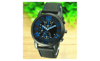 Men's Casual Sports Stainless Steel Silicone Band Quartz Analog Wrist Watch - sparklingselections
