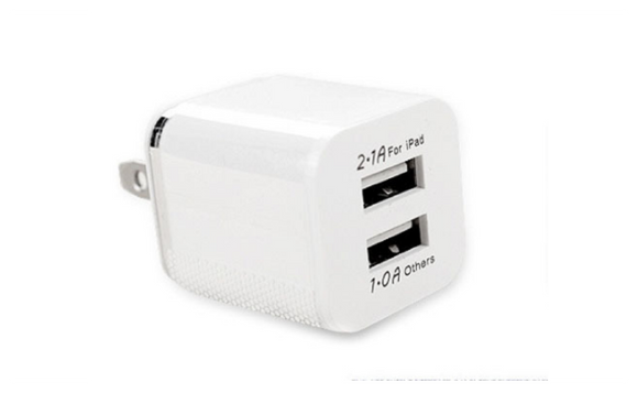 5V 2-port Dual USB Wall Travel USB Charger Adapter for Mobile Phones