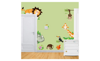 Forest Theme Cute Animal Live in Your Home Wall Stickers/ Home Decor