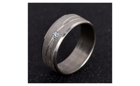White Sapphire Stainless Steel Ring For Women (7,8,9)
