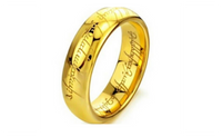 Laser Engraved Stainless Steel Gold Plated Ring For Women (8)