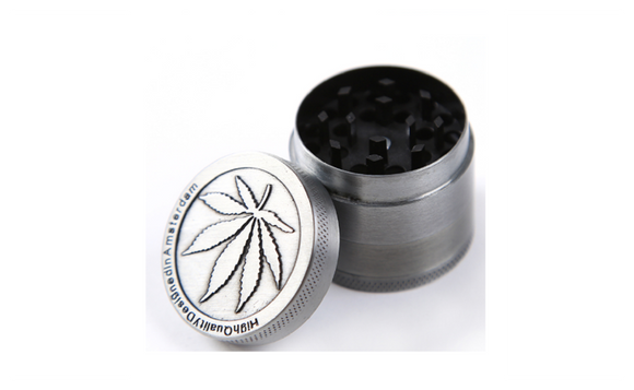 Metal Stainless Steel Coin Shape Pattern Herb Tobacco Grinder