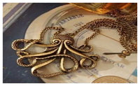 Pirates of the Caribbean Octopus Man Retro Long Necklace