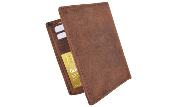 Business Leather Wallet ID Credit Card Holder Pocket Purse For Men