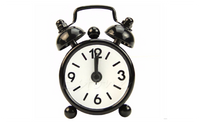 Outdoor Portable Cute Mini Cartoon Dial Number Round Desk Alarm Clock