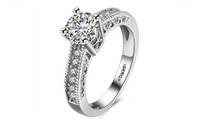 Classic Glamour Style Nice Quality Silver Plated Ring (6,7,8)