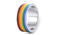 Rainbow Titanium Creative Steel Band Ring Jewelry (6,7,8)