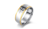 Cross Style Stainless Steel Rings For Women (7,8,9)