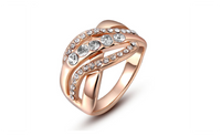 Rhinestone Ringen Luxury Fine Rose Gold Plated Ring-7