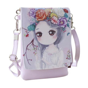 New Kids Girls Cartoon Handbags Candy Color Mini Crossbody Bag