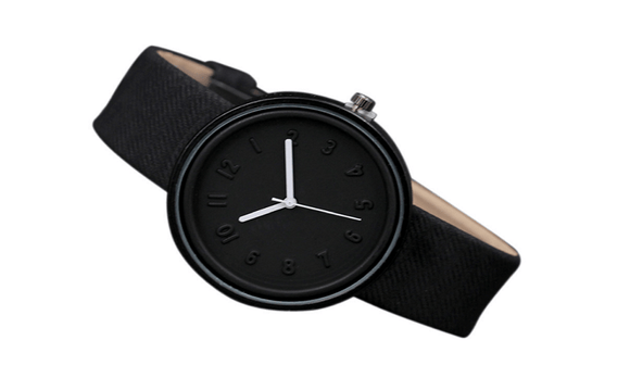 Women Simple Fashion Roman Business Quartz Canvas Belt Wrist Watch