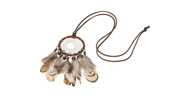 New Handmade Dream Catcher Feathers Bead with Long Chain Necklace