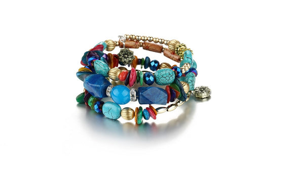 Multilayer Beads Charm Bracelets for Women