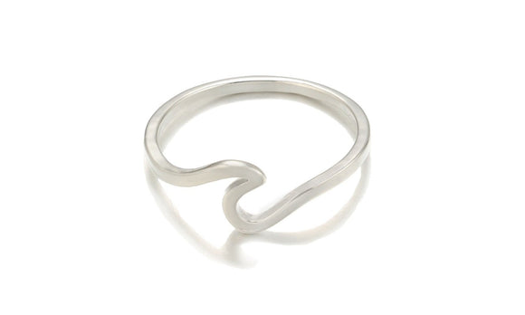 New Fashion Simple Metal Surfer Midi Surf Rings