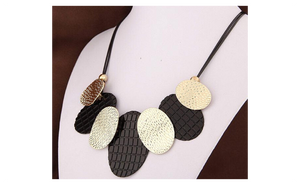 Steampunk Bib Choker Chunky Bijoux Statement Necklace