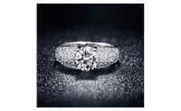 White Gold Plated cz Stone Wedding Engagement Rings For Women - sparklingselections