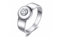 Round Fashion Stainless Steel Ring For Women