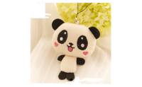 Doll Toy Plush Papa Bear Panda Pendant For Gift