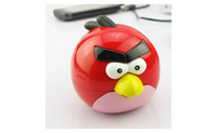 Red Cute Colorful Bird Portable Mini MP3 Player With Card Slot