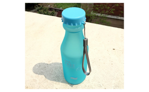 High Quality Sky Blue Colored Portable Plastic Water Bottle Drinkware