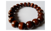 Fashion Natural Dark Beads 12mm Wood Bracelet
