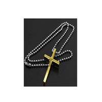 Gold Plated Jesus Cross Pendant Necklace for Men and women - sparklingselections