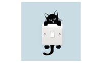 Lovely Cute Little Cat Switch Stickers