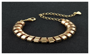 Gold Plated Adjustable Bangle For Women