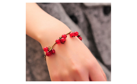 Vintage Small Sweet Cherry Beautiful Couple Bracelet