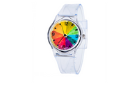 Kids Lovely Cute Pure White Color Silicone Rubber Strap Analog Watch