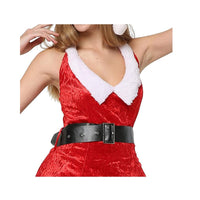 Women Sexy Christmas Festival Costumes Red Dress Uniform Role Playing for Adult Santa Dresses